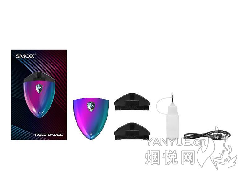 图雾换弹和SMOK ROLO BADGE套装电子烟正品价格及口感哪款比较好